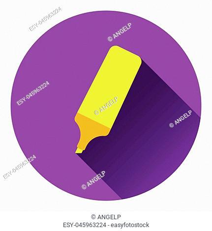 Marker icon. Flat color design. Vector illustration