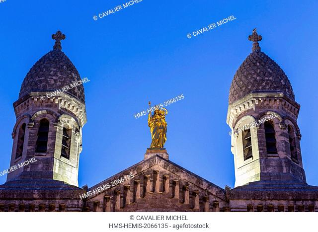 France, Var, Saint Raphael, Basilica Notre Dame of Victoire, builds by Pierre Auble between 1882 and 1889 of the romano Byzantine style