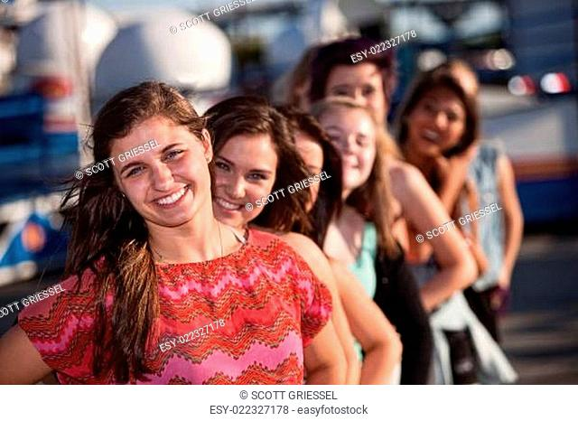 Confident Teen with Girlfriends