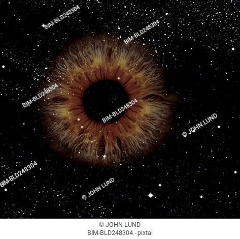 Brown eye in outer space