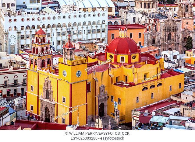 Our Lady of Guanajuato Church University Templo Companiea Guanajuato, Mexico From Le Pipila Overlook