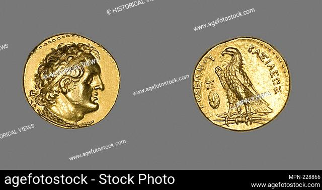 Pentadrachm (Coin) Portraying King Ptolemy I Soter - Ptolemaic Period (285–247 BC), issued by King Ptolemy II Philadelphos - Greco-Egyptian