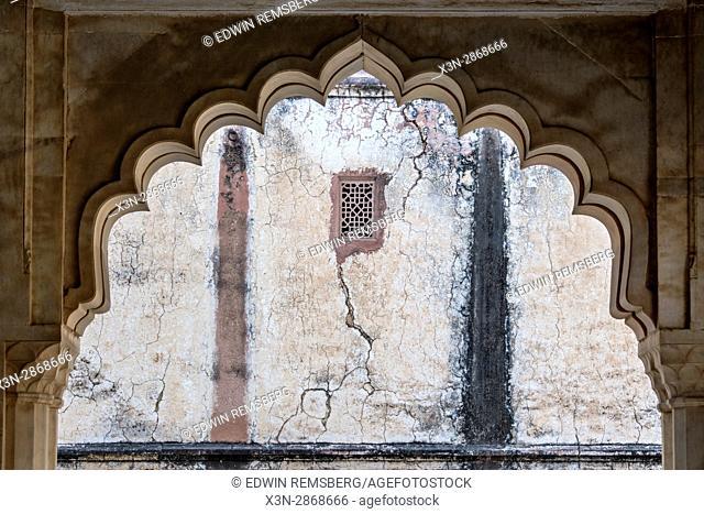 Jaipur, India; Amber Fort - Decorative arch