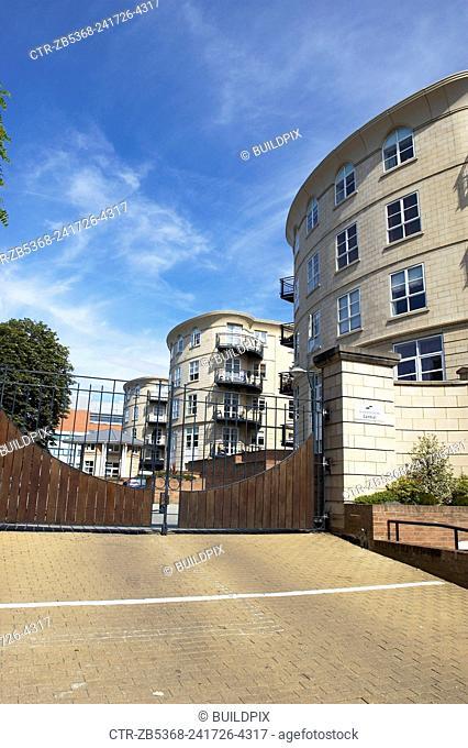 Gated development in East London, UK