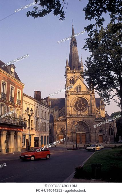 France, Champagne, Epernay, Marne, Europe, Cathedral in downtown Epernay in the Champagne Region of France
