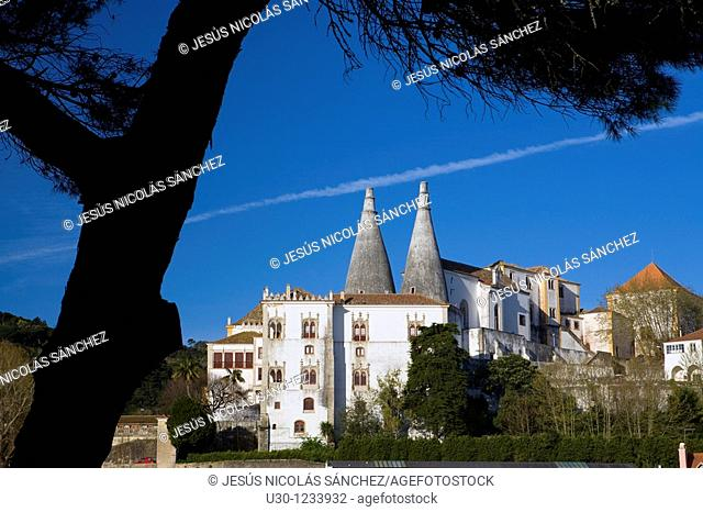 Sintra National Palace, Sintra, UNESCO World Heritage Site  Lisboa district  Portugal