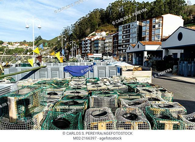Town of Ribadesella, Asturias, Spain