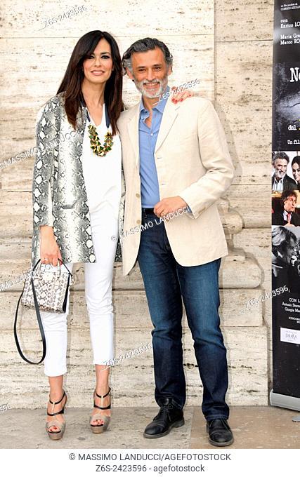 Maria Grazia Cucinotta and Enrico Lo Verso; cucinotta ,lo verso;actress end actor; celebrities; 2015; rome; italy; event; photocall; nomi e cognomi