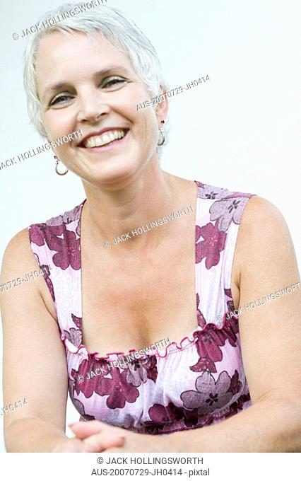 Portrait of a mature woman smiling