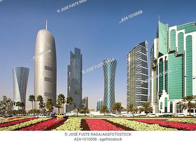 Corniche skyline, Doha, Qatar