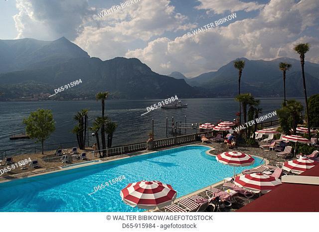 Italy, Lombardy, Lakes Region, Lake Como, Bellagio, Grand Hotel Villa Serbelloni, swimming pool