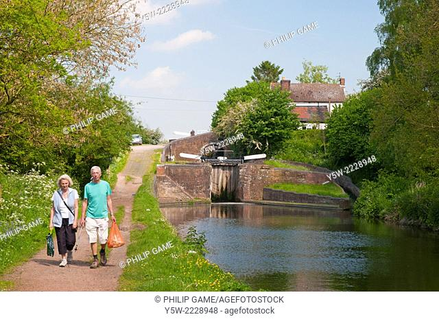Locks on the Staffordshire and Worcestershire Canal in the Black Country, England