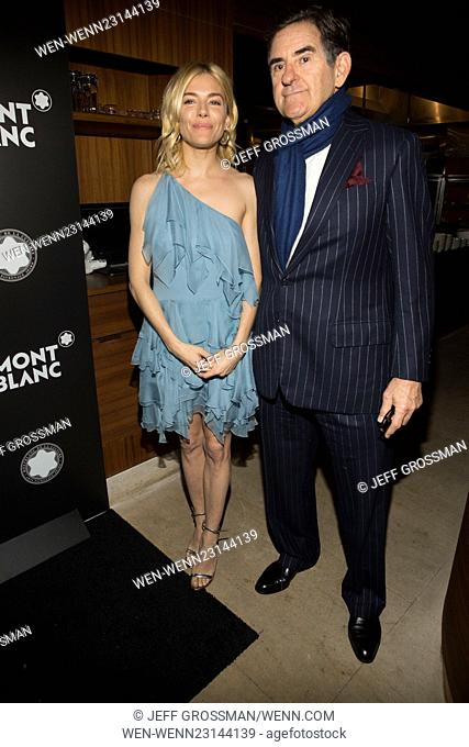 24th Anniversary Year Of Montblanc De La Culture Arts Patronage Awards at Kappo Masa - Arrivals Featuring: Sienna Miller, Peter M