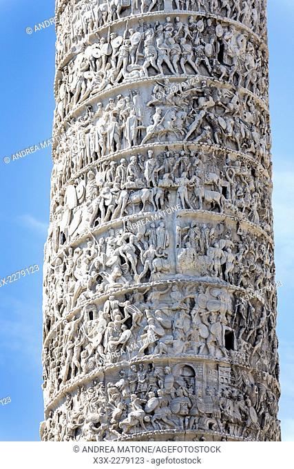 The Column of Marcus Aurelius. Rome, Italy