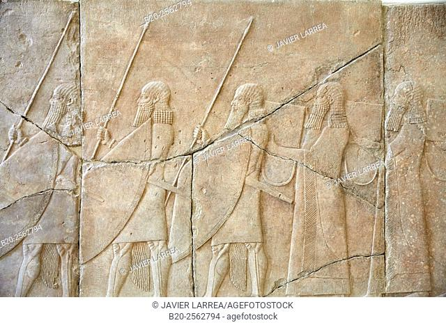 Palace Relief, Reconstruction of Assyrian Palace, Pergamon Museum, Berlin, Germany
