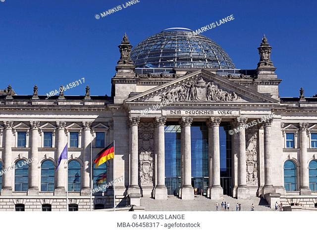 Reichstag, the Mitte distric of Berlin, Berlin, Germany