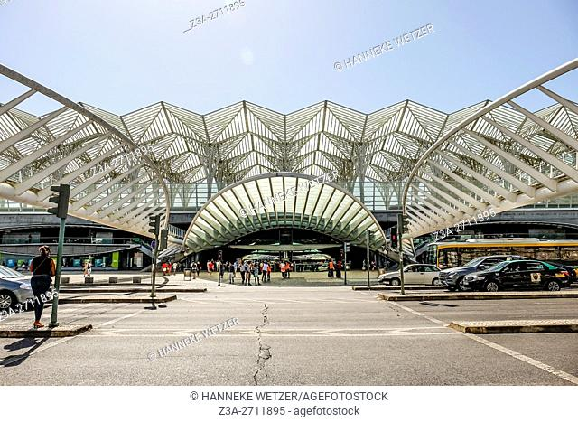 Lisbon oriente station designed by architect Calatrava, Lisbon, Portugal, Europe
