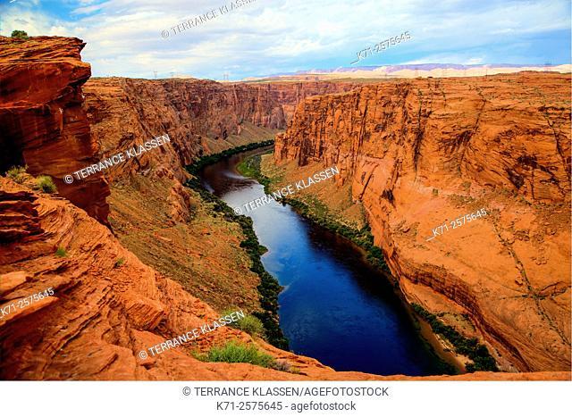 The Colorado River and Glen Canyon near Page, Arizona, USA