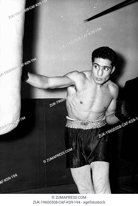 Nov. 22, 1955 - Paris, France - SERAPHIN FERRER (August 5, 1931 - February 2, 2001) was a French welterweight boxing champion