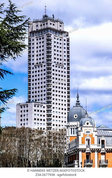The Torre de Madrid (Spanish: Tower of Madrid) is one of the tallest buildings in Madrid. It measures 142 metres in height