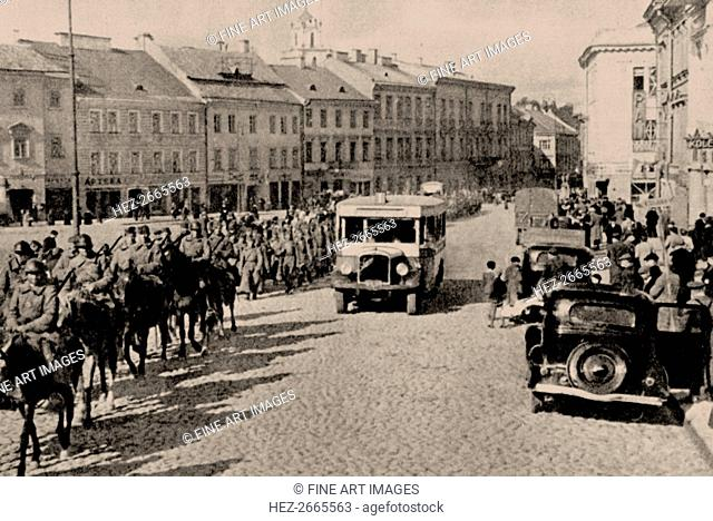 The Soviet Red Army in Vilnius, 1940, 1940