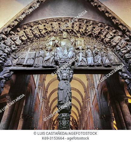 Portico de la Gloria. The Cathedral of Santiago de Compostela. Spain