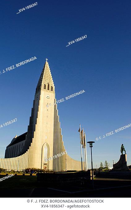 Iceland, Reykjavik, Hallgrimskirkja Church