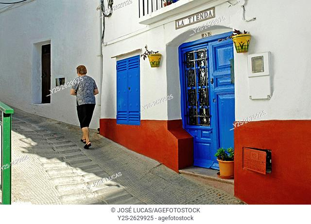 Urban view, Competa, Malaga province, Region of Andalusia, Spain, Europe