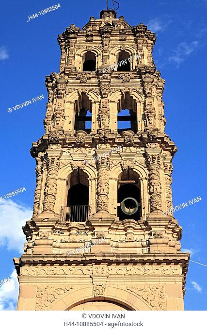 Church of San Agustin, 1750, San Luis Potosi, state San Luis Potosi, Mexico