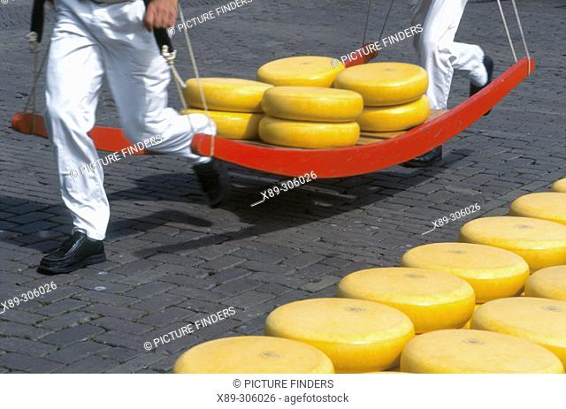 Cheese market. Alkmaar. Holland