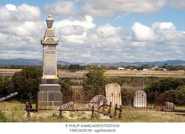Pioneer settlers' cemetery at Alberton, South Gippsland, Victoria, Australia
