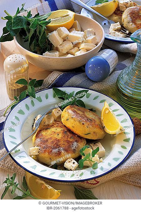 Potato cakes with feta, Greece