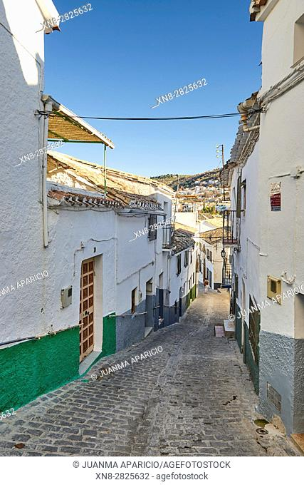 Way to the Castle in Montefrio, Granada, Andalusia, Spain, Europe