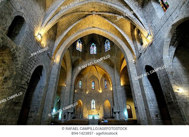 Gothic parish church of Sant Pere, Figueres, Alt Emporda, Girona, Catalonia, Spain