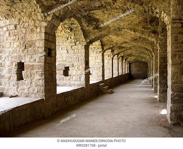 Golconda Fort , Hyderabad , Andhra Pradesh , India