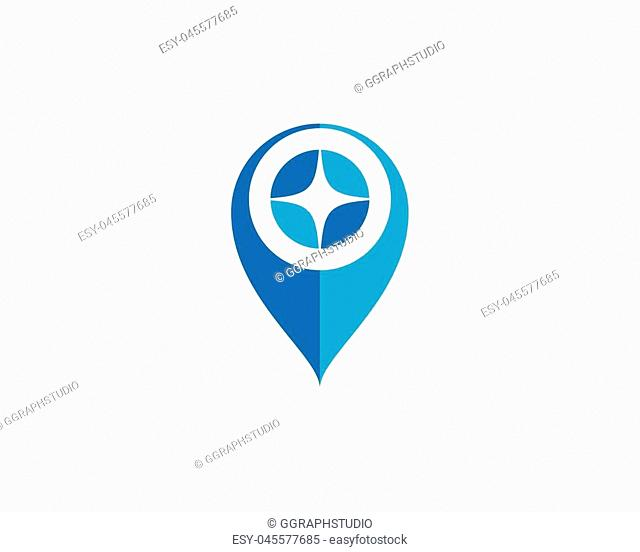 Location point icon logo vector illustration design