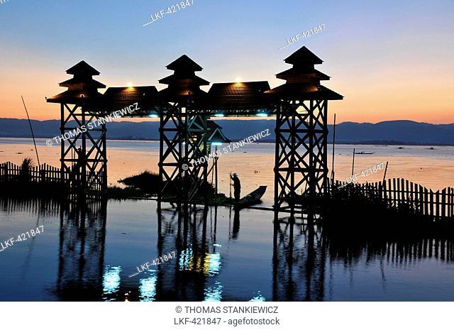 Paradise Inle Resort on the Inle Lake, Myanmar, Burma, Asia