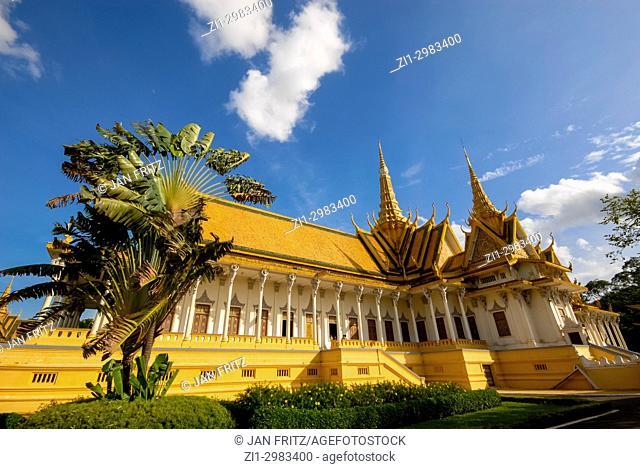 pagode at the royal palace area in Phnom Penh, Cambodia