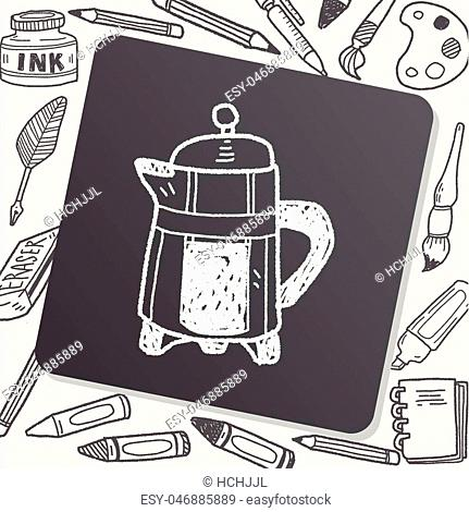 coffee doodle drawing