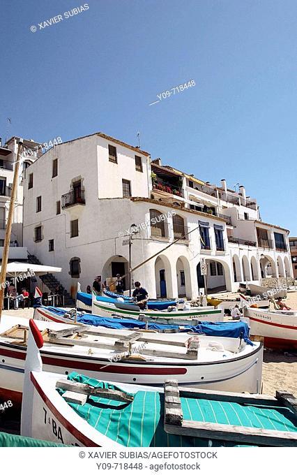 Port Bo, Calella de Palafrugell. Costa Brava, Girona province, Catalonia, Spain