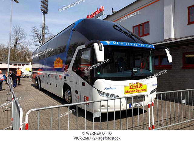 Mannschaftsbus VfL Bochum U23, Stadion Niederrhein in Oberhausen, Regionalliga West, 2014/2015, RW Oberhausen gegen VfL Bochum U23 2:3 *** Local Caption ***...