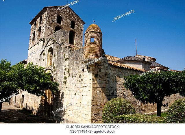 Santa Eulàlia church  Romanesque  XIIth century  Spain, Catalonia, Girona province, Pla de l'Estany, Crespià