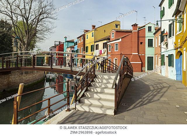 Colourful houses on Burano island, Venice, Italy