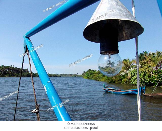 sao luis do maranhao lamp of a boat in the river pond lake