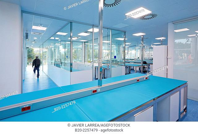 Bio pharmaceutical laboratory. Empty chemical laboratory. Barcelona. Spain