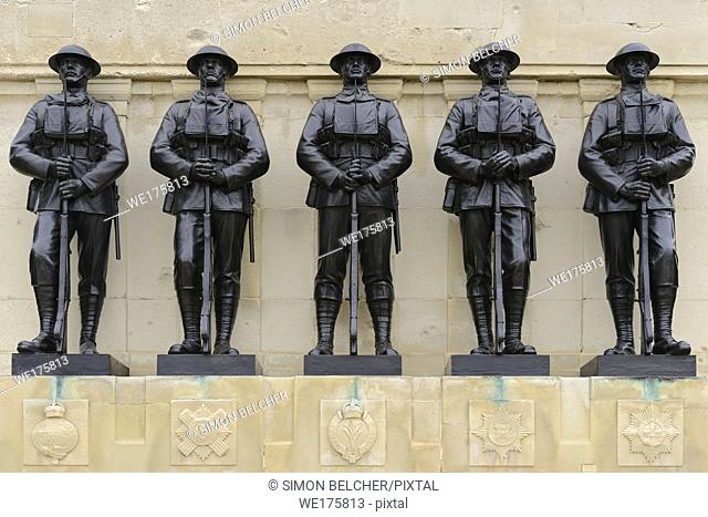 The Guards Memorial, Horse Guards Road, London, United Kingdom. A First World War Memorial to the Fallen of the Guards Division