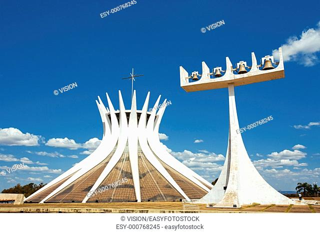 Cathedral Metropolitana Nossa Senhora Aparecida The Metropolitan Cathedral of Brasilia city capital of Brazil UNESCO World Heritage site is an expression of the...