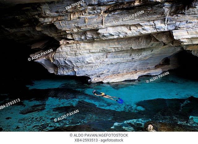 Pratinha cave, Chapada Diamantina, Bahia, Brazil