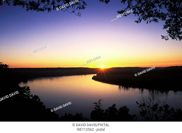Sunrise on the Ohio River from Otter Creek Park, Kentucky