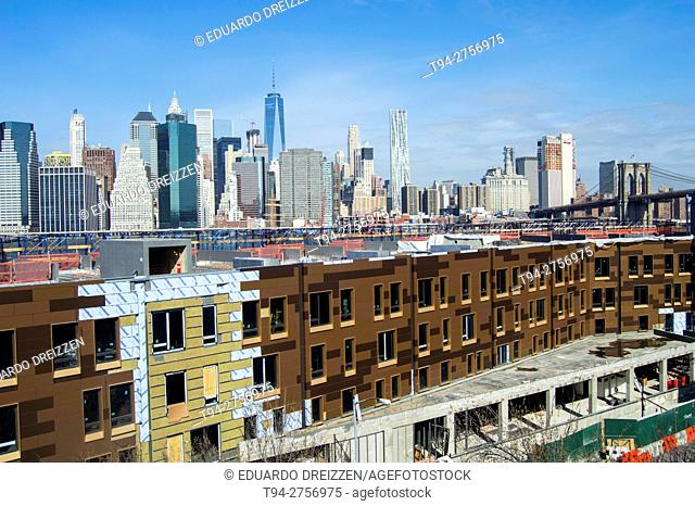 View of the Financial District from the Brooklyn Heights Promenade, New York